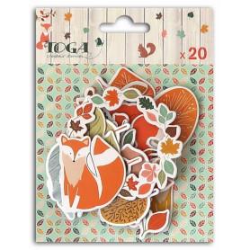 Chipboards en carton 20pc Miel et Cannelle - Toga
