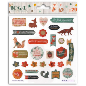 Stickers Epoxy Miel et Cannelle 29 pc - Toga