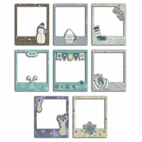 Cadres Polaroid Let It Snow 8 pcs - Toga