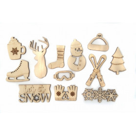 Set de formes en bois Let It Snow - Toga