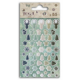 Embellissements epoxy 55 pc Let It Snow - Toga