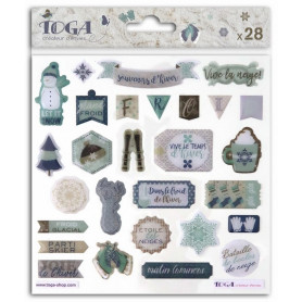 Stickers Epoxy Let It Snow 28 pc - Toga