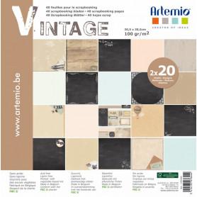 Set de papier 30x30 Vintage My Home My Deco 40f – Artemio