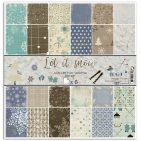 Set de papier 30x30 Let It Snow 6f - Toga