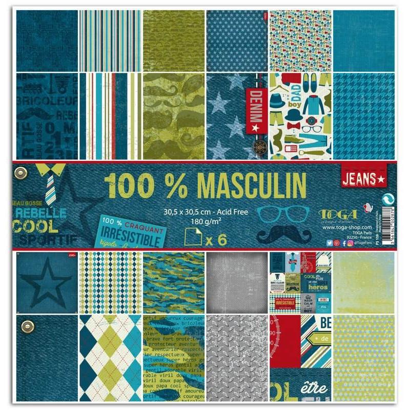 Set de papier 30x30 100% Masculin 6f - Toga