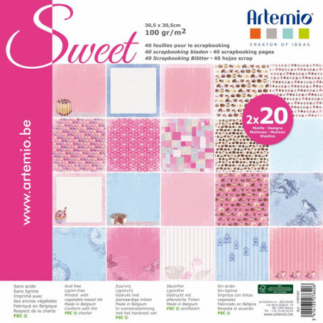 Set de papier 30x30 sweet My Home My Deco 40f –  Artemio