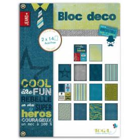 Set de papier Bloc Déco 100% Masculin 15x20cm 28f - Toga