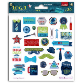 Stickers Epoxy 100% Masculin 30 pc - Toga