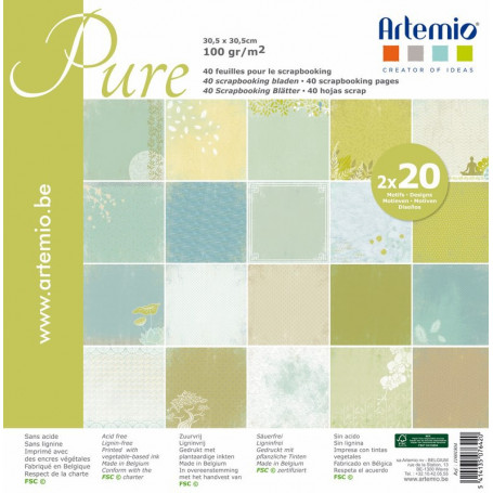 Set de papier 30x30 Pure My Home My Deco 40f –  Artemio