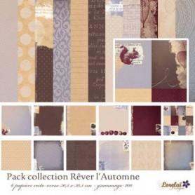 Set de papier 30x30 Rêver L'automne 6f - Lorelaï Design