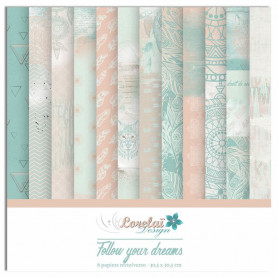 Set de papier 30x30 Follow Your Dreams 6f - Lorelaï Design
