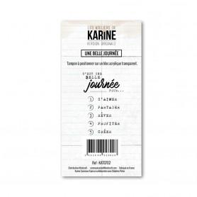 Tampon Une belle journée - Version Originale - Les ateliers de Karine