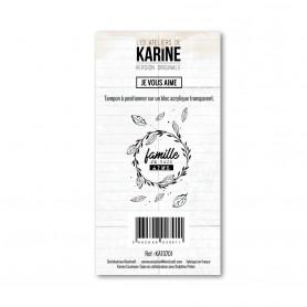 Tampon Je vous aime - Version Originale - Les ateliers de Karine