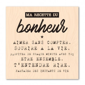 Tampon bois Ma recette du bonheur - Version Originale - Les ateliers de Karine