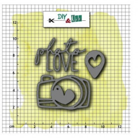 Dies Photo Love 3pc - Diy & Cie