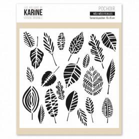 Pochoir Méli-mélo feuilles - Version Originale - Les ateliers de Karine