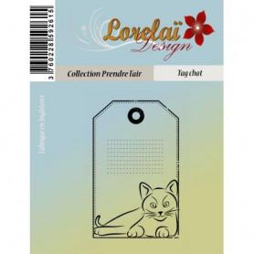 Tampons Tag Chat - Prendre l'air - Lorelaï Design