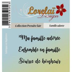 Tampons Famille adorée - Prendre l'air - Lorelaï Design