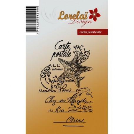 Tampon Cachet postal étoile - Prendre l'air - Lorelaï Design