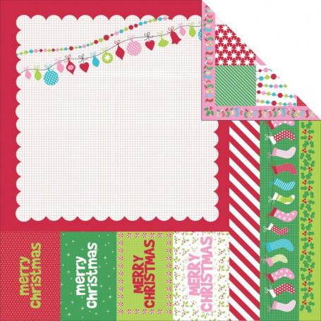 Papier 30x30 North Pole 1f – Collection Mint Twist Kaisercraft