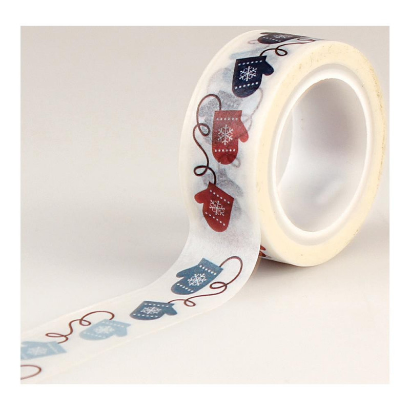 Masking Tape Winter Mittens- I Love Winter - Echo Park