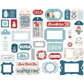 Die-cuts Ephemera Tags & frames 33 pc I Love Winter - Echo Park