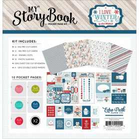 Kit scrapbooking I Love Winter - My Story Book - Echo Park
