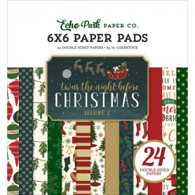 Set de papier 15x15 'Twas The Night Before Christmas 24f – Echo Park
