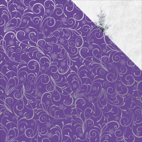 Papier 30x30 Silver Swirl 1f – Collection Chistmas Jewel Kaisercraft