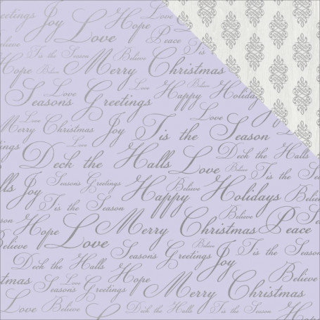 Papier 30x30 Holiday Wishes 1f – Collection Chistmas Jewel Kaisercraft