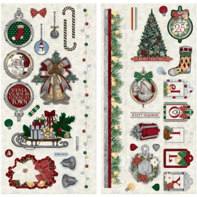 Chipboards Tis The Season 37pc - Bo Bunny