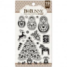 Tampons Feeling Festive 10x15 cm 19 pc - Bo Bunny