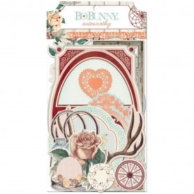 Die-cuts Bella Rosa 28pc - Bo Bunny Noteworthy