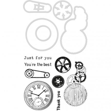 Die & stamp set Mechanical Parts - Kaisercraft