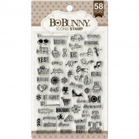 Tampons Icons 10x15 cm 58 pc - Bo Bunny