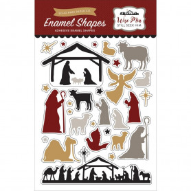 Embellissements epoxy Wise Men Still seek Him - Echo Park Enamel Shapes