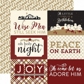 Papier 30x30 4x6 Journaling Cards 1f - Wise Men Still Seek Him - Echo Park