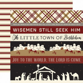 Papier 30x30 Border Strips 1f - Wise Men Still Seek Him - Echo Park