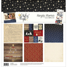 Set de papier 30x30 O Holy Night 6f - Simple Stories