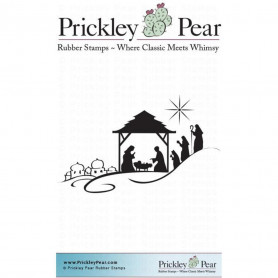 Tampon Cling Nativité - Prickley Pear Nativity stamp