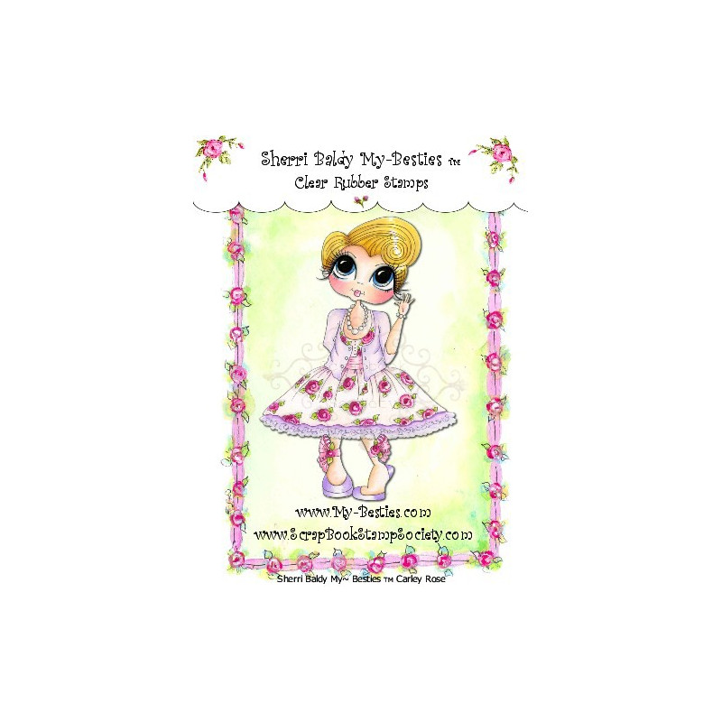 Tampon My Besties Carley Rose – Sherry Baldy – Clear Stamp