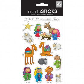 Stickers Nativity 3 planches - Me & My Big Ideas