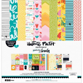 Set de papier 30x30 Whatever is Lovely 15pc - Illustrated Faith Kit