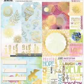 Papier calque 30x30 Faith 1f – Bo Bunny Foil Vellum