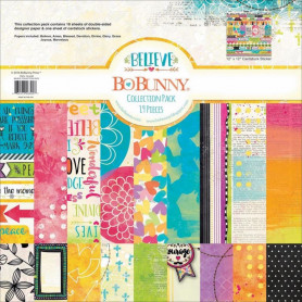 Set de papier 30x30 Believe 18f - Bo Bunny Collection Pack