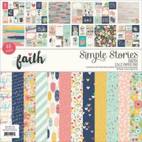 Set de papier 30x30 Faith 48f - Simple Stories Kit