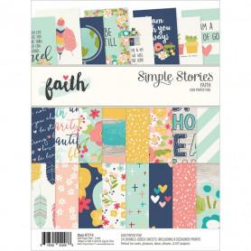 Set de papier A5 Faith 24f - Simple Stories
