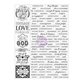 Stickers Love Faith Scrap 105 pc - Prima Marketing