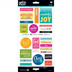Stickers Go & Tell 23 pc - Illustrated Faith