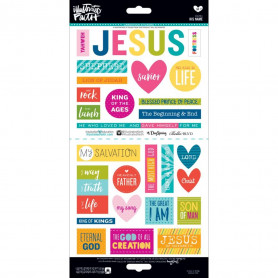 Stickers His Name 31 pc - Illustrated Faith